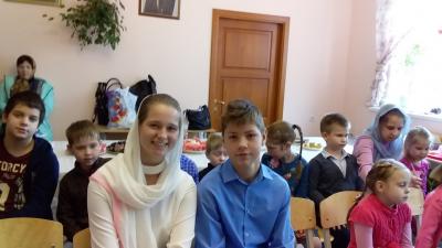 В воскресной школе «София – Премудрость Божия» при храме во имя Пимена Угрешского состоялся первый выпуск учащихся