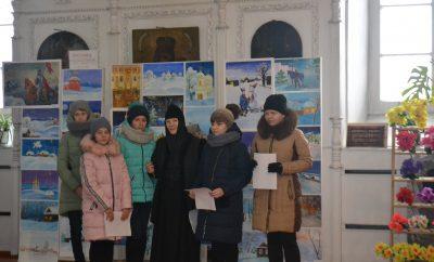В Верхнем Ломове прошла выставка детских рисунков «Ангел Рождества»