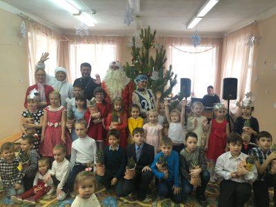 В центре православного воспитания «Семейный круг» прошел новогодний праздник