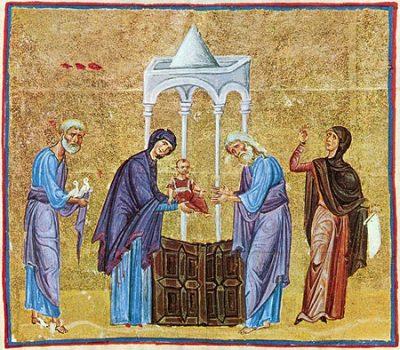 15 февраля – Сретение Господа Бога и Спаса нашего Иисуса Христа