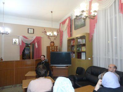 В рамках православного лектория прошла встреча со священником Виталием Зориным