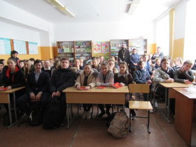 В преддверии Сретения Господня священник встретился с учащимися общеобразовательной школы села Ленино