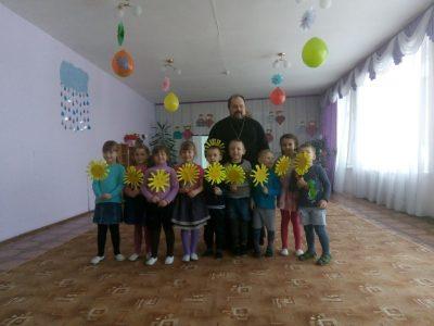 Священник Александр Рысин посетил МБОУ детский сад №4 г. Городище