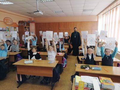 Священник посетил с пастырским визитом среднюю общеобразовательную школу №47