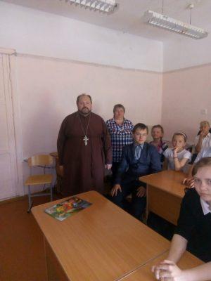 Священник встретился с учащимися общеобразовательной школы села Русский Ишим
