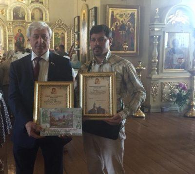 Во Введенском храме в Веселовке вручили награды за помощь в восстановлении храма