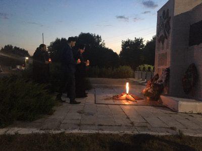 В День памяти и скорби в Каменке прошла акция «Свеча памяти»