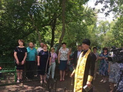 В селе Нечаевка почтили память воинов, умерших от ран в эвакогоспитале № 4583