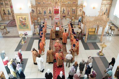 В день памяти прмц. Гермогены (Кадомцевой) митрополит Серафим совершил Литургию в Успенском женском монастыре