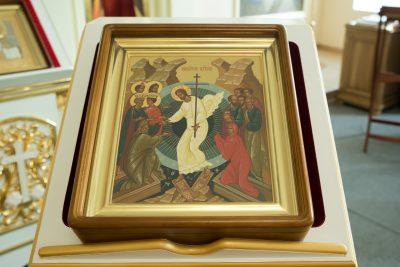 Митрополит Серафим совершил всенощное бдение в Воскресенском храме при епархиальном управлении