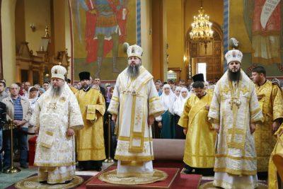 Митрополит Серафим возглавил Литургию в Вознесенском кафедральном соборе Кузнецка