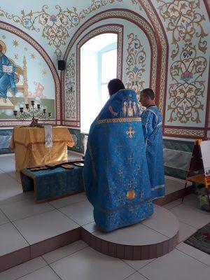 В Каменке освятили иконы для нового иконостаса Димитриевского храма