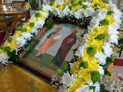В храме Петра и Февронии состоялись торжества, посвященные дню памяти свв. апостолов Петра и Павла