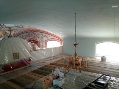 Начались работы по росписи центрального алтаря Димитриевского храма Каменки