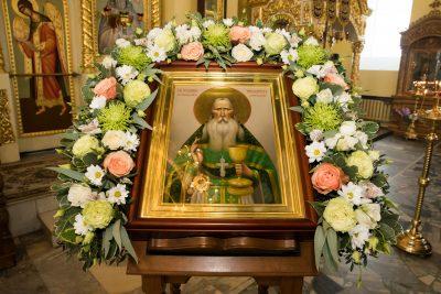 Митрополит Серафим и епископ Митрофан совершили всенощное бдение в Сергиевской церкви села Соловцовка