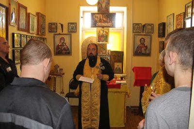 Священник Михаил Земцов посетил осужденных, содержащихся в СИЗО №1