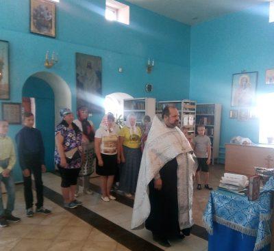 В Городище для воспитанников детской школы искусств отслужен молебен