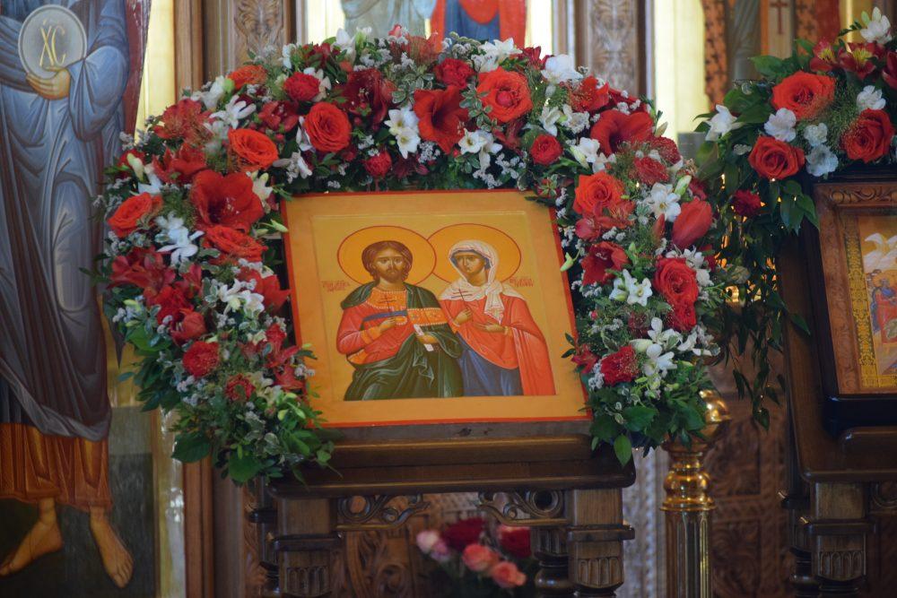 В день престольного праздника митрополит Серафим возглавил Литургию в храме во имя мучеников Адриана и Наталии