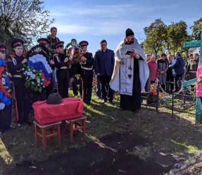 В Нижнеломовском благочинии состоялось перезахоронение останков воина