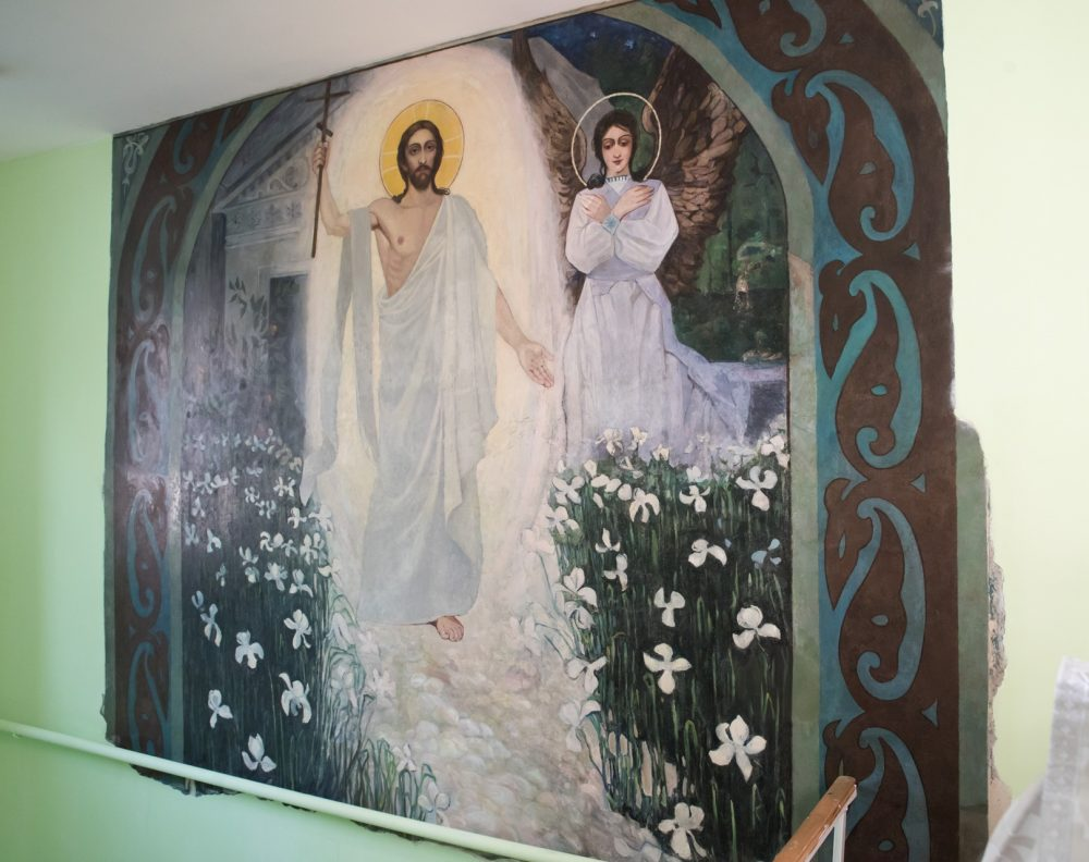 Митрополит Серафим совершил освящение фрески XIX века после реставрации