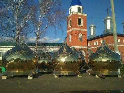 В Городище доставлены купола для Покровского храма