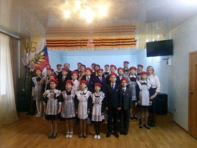 Священник поздравил юных городищенцев с вступлением в ряды Всероссийского военно-патриотического движения «Юнармия»