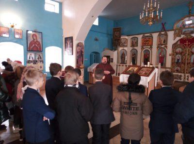 Покровский храм г. Городище посетили учащиеся общеобразовательной школы