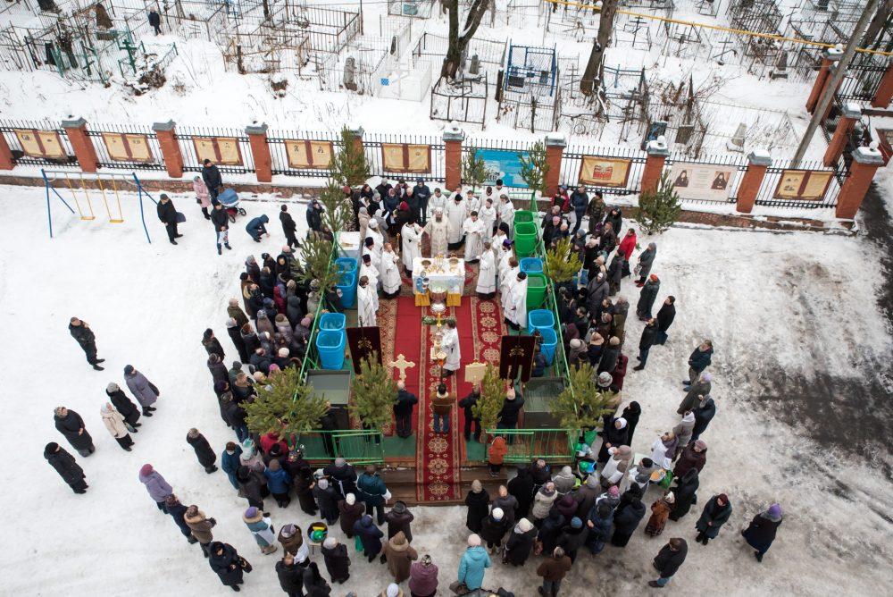 В Крещенский сочельник митрополит Серафим совершил чин великого освящения воды в Успенском кафедральном соборе