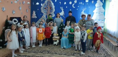 Священник побывал в гостях у воспитанников детских садов Мокшанского благочиния