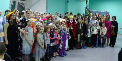 Воспитанники хоровой школы «Преображение» поздравили ребят из «Дома Вероники» с Рождеством Христовым