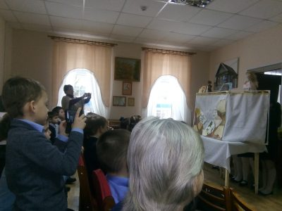 В Городище состоялась встреча священника с учащимися