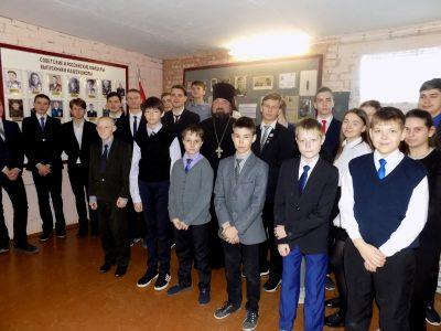 Иерей Михаил Земцов встретился с учащимися общеобразовательной школы села Степановка