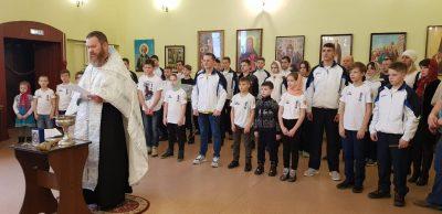 В храме Петра и Февронии Муромских состоялся молебен с участием спортсменов Пензенской федерации Кёкусин-кан каратэ-до