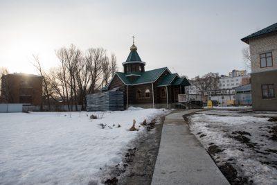 В день престольного праздника митрополит Серафим совершил Литургию в храме во имя блаженной Матроны Московской