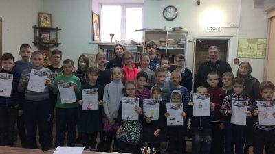 Воспитанники воскресной школы «Донские» приняли участие во Всероссийской акции «Письмо Победы»