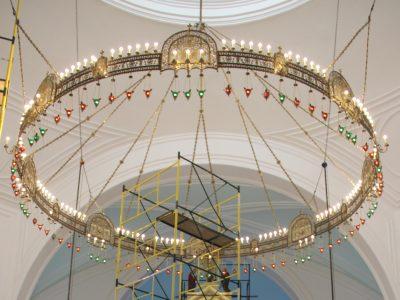 В Спасском соборе установили центральный хорос и приступили к монтажу иконостаса