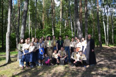Юные разведчики Национальной организации добровольцев «Русь» посетили Калужскую область