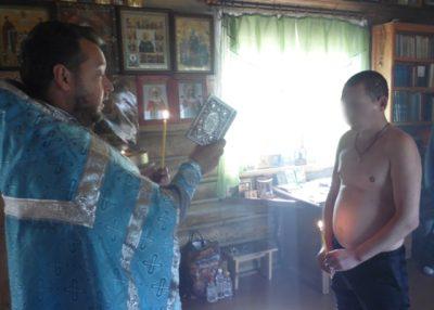 Протоиерей Антоний Шварев совершил Таинство Крещения в исправительной колонии №7