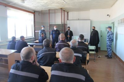 Священник принял участие в мероприятии по борьбе с терроризмом в ИК-7