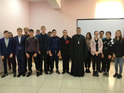 Священник рассказал школьникам о вреде наркомании