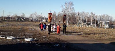 В селе Вирга прошел крестный ход по случаю престольного праздника Михайло-Архангельского храма