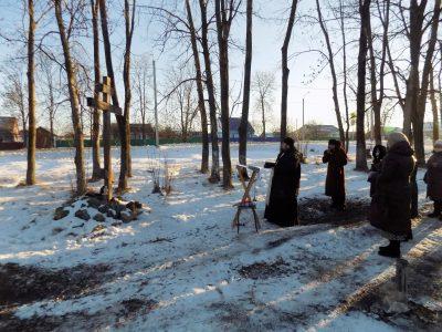 Молебен на начало строительства храма совершен в селе Степановка