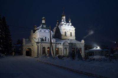 В день отдания праздника Рождества Христова митрополит Серафим совершил Литургию в Троицком женском монастыре
