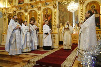 В праздник Собора Пресвятой Богородицы митрополит Серафим совершил Литургию в Вознесенском кафедральном соборе Кузнецка