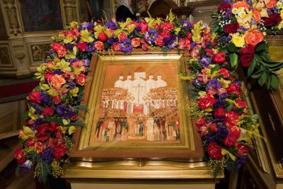Митрополит Серафим и епископ Митрофан совершили всенощное бдение в Успенском соборе Пензы