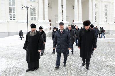 Чрезвычайный и Полномочный посол Республики Беларусь в РФ Владимир Семашко посетил Спасский кафедральный собор
