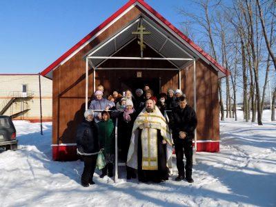 В селе Степановка освятили кресты для внешних стен здания вновь построенного Михайло-Архангельского храма
