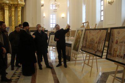 Представлены эскизы росписи Спасского кафедрального собора