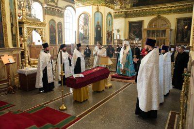 Митрополит Серафим совершил чин отпевания преподавателя Пензенской духовной семинарии Владимира Викторовича Дружинина
