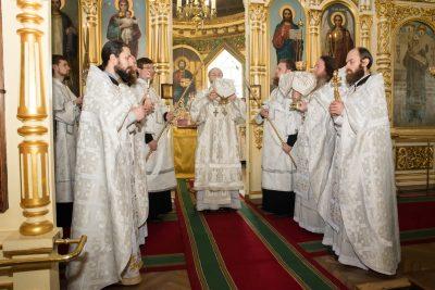 Митрополит Серафим освятил левый придел Успенского собора во имя святителя Алексия, митрополита Московского и всея России